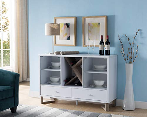 Smart Home 171966 Wine Cabinet Sideboard Buffet (Two-Tone Finish)