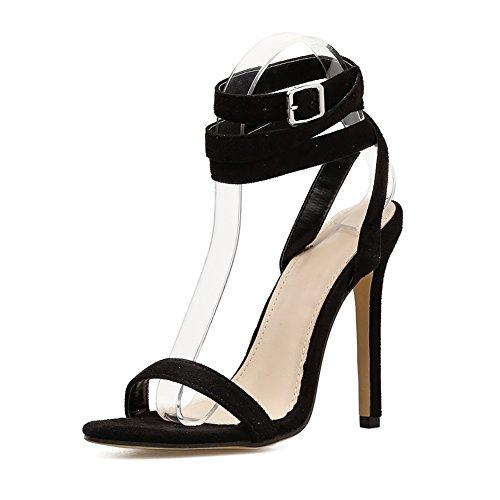 Sandalias Y Para Tacón Mujer Con Sasa Gamuza Roman Alto De d1d6F