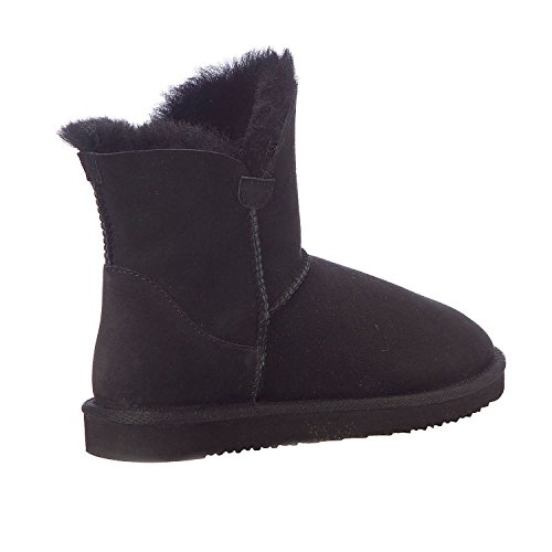 Members Mark Women Shearling Short Boot 100% Australian Sheepskin Black