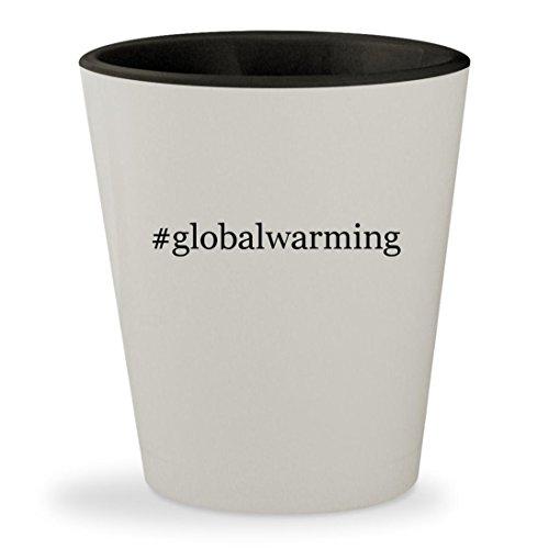 #globalwarming - Hashtag White Outer & Black Inner Ceramic 1.5oz Shot - White Gore Glove