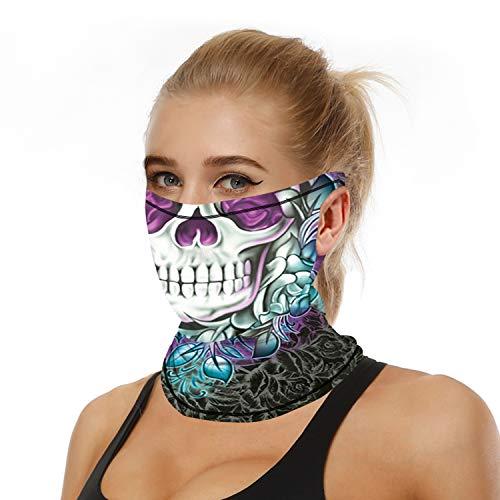 ARKIM Unisex Bandana Face Mask Scarf Balaclava Neck Dust Cloth Washable Wind Motorcycle Outdoor Women Men (Style-016)
