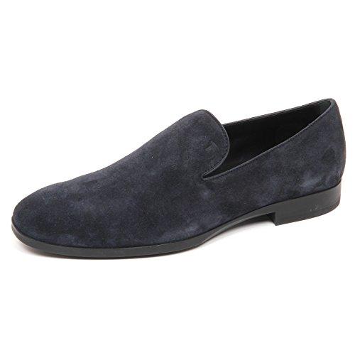 Tod's E2858 Man Loafer Mocassino Blu Blu Shoe Uomo Scarpe wz61wAq