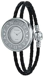 Pandora 811041LS-D2 - Reloj analógico de cuarzo para mujer con correa de piel, color negro