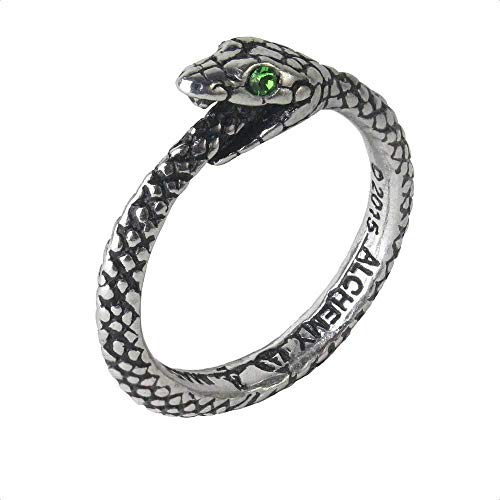 The Sophia Serpent Ring Ouroboros by Alchemy Gothic - size 11