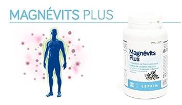 Leppin - magnévits Plus 60 Pastillas - Complejo de bisglycinate de magnesio 900 mg + Vitamines B + Taurina - Alta biodisponibilité - Suplemento naturales: ...
