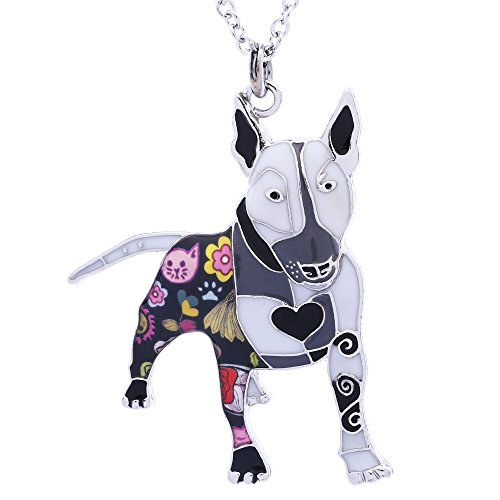 Bull Terrier Ring - Luckeyui Bull Terrier Dog Necklace & Pendants for Girls Novelty Pet Lover Gifts Keychain Jewelry