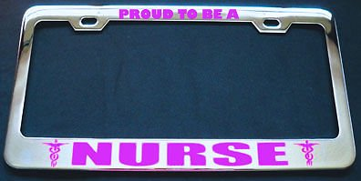 Bravo Knife Rescue (Proud to BE A Nurse Metal Pink License Plate Frame Perfect for Men Women Car garadge Decor)