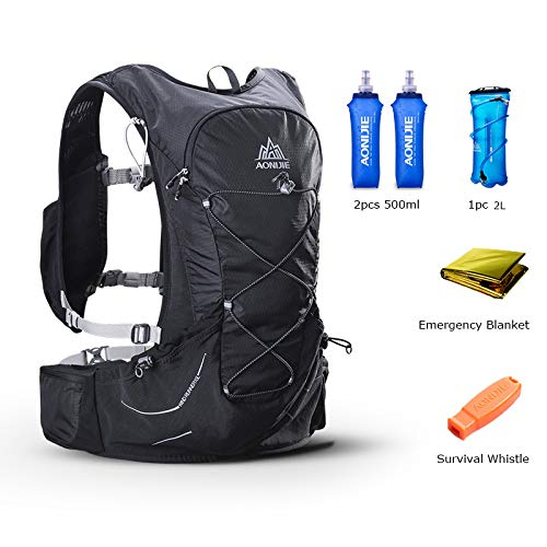 POJNGSN Outdoor Lightweight Hydration Backpack Rucksack Bag Free 2L Water Bladder for Hiking Camping Running Race Set-A by POJNGSN (Image #1)