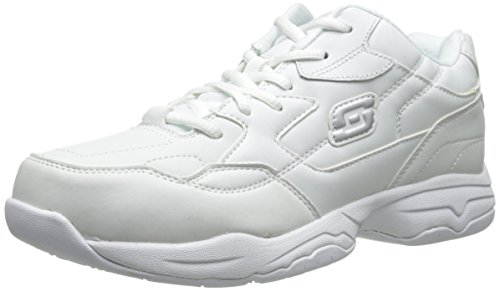 Slip Athletic Clogs (Skechers for Women's Work Albie Walking Shoe, White, 8 M US)