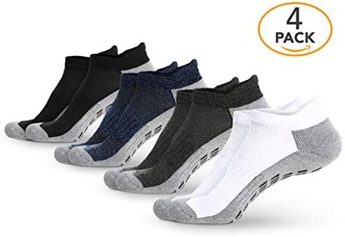Calcetines antideslizantes para tobillo (4 pares) – Calcetines antideslizantes para yoga, pilates, maternidad, embarazo, hospital, adultos, hombres y mujeres 5