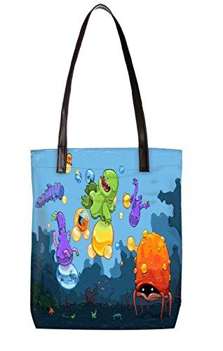 Borsa Da Spiaggia Snoogg, Multicolore (multicolore) - Ltr-bl-2658-totebag