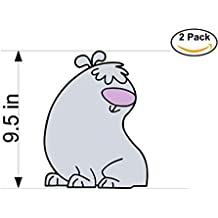 2 Stupid dogs 2 Stickers Huge 9.5 inches Cartoon Car Bumper Window Sticker Decal_4