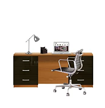 competitive price d9d9e a9dfb Amazon.com: Lafayette Computer Desk - Contemporary 6 Foot ...