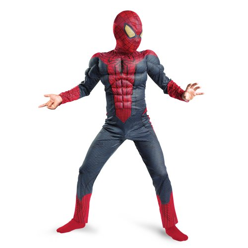 Disguise Costumes the amazing spiderman child muscle costume blue/red