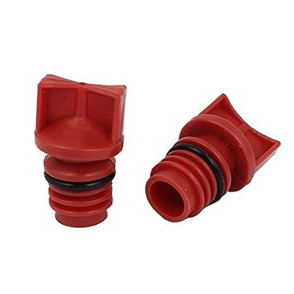 Compresor de aire de plástico de 18 mm de vivienda rosca macho Dia del petróleo enchufes 2pcs Rojo - - Amazon.com