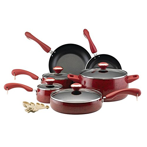Beaumont Lane 15 piece Nonstick Cookware Set inレッド   B07DCH7MGQ