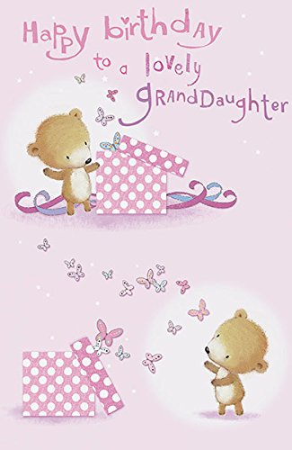 Amazon Lovely Granddaughter Cute Birthday Greeting Card