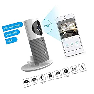 Security IP Camera, TOLEGEND 2nd Generation 120 ° Wide Angle Night Vision Camera Security Wireless Puppy Cam for Phone