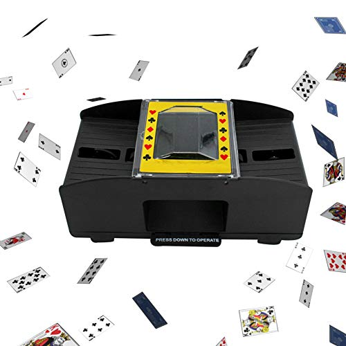 Washingtool Automatic Playing Card Shuffler Machine,Battery-Operated Electric Shuffler - Great for Home & Tournament Use for Classic Poker & Trading Card Games