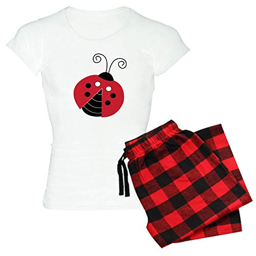 CafePress Red and Black Ladybugs Womens Novelty Cotton Pajama Set, Comfortable PJ Sleepwear (Ladybug Mod)