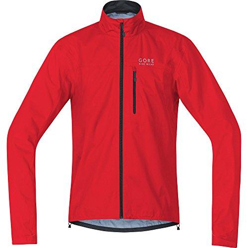 GORE BIKE WEAR Men's Cycling Rain Jacket, Super Light, GORE-TEX Active,  Jacket, Size: M, Red, JGTELM