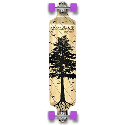 Yocaher in The Pines Natural Longboard Complete Skateboard – Available in All Shapes