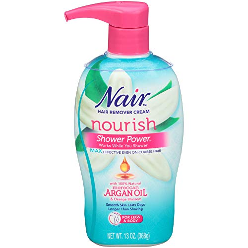 Nair Hair Remover Cream Nourish Shower Power Moroccan Argan Oil, 13 oz. (Best Nair For Arms)