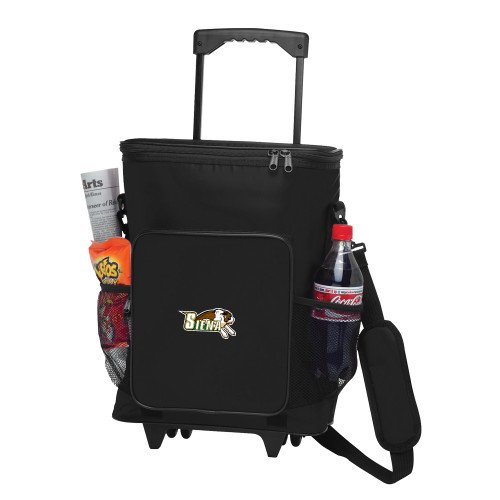 Siena 30 Can Black Rolling Cooler Bag 'Official Logo' by CollegeFanGear