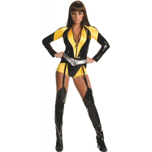 (Secret Wishes Women's The Watchman Silk Sceptre Costume, Black/Yellow, M (6/8))