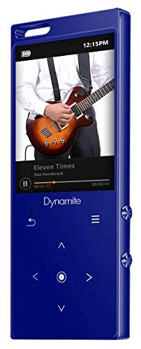 SAMVIX Dynamite MP3 Player 8GB with Bluetooth, Touch Buttons, Voice Recorder, Speaker, Kosher MP3 Players Without Radio, NO Video, NO Pictures (Blue)