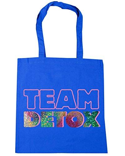 HippoWarehouse equipo Detox Tote Compras Bolsa de playa 42cm x38cm, 10litros Azul Aciano