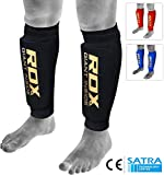 RDX Shin Guard MMA Shin Foam Pads Support Boxing Leg Guards Protector Kickboxing Muay Thai (CE Certified Approved by SATRA)