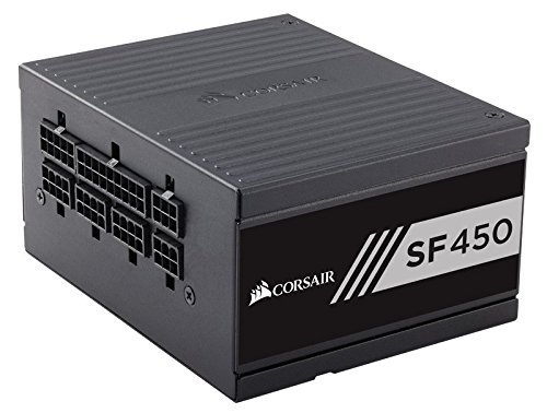 Corsair SF Series, SF450, SFX Form Factor, 450 Watt (450W), Fully Modular Power Supply, 80+ Gold Certified, 7 Year Warranty by Corsair (Image #1)