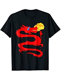 Red Fire Breathing Dragon T-Shirt, Cool Dragon T-Shirt