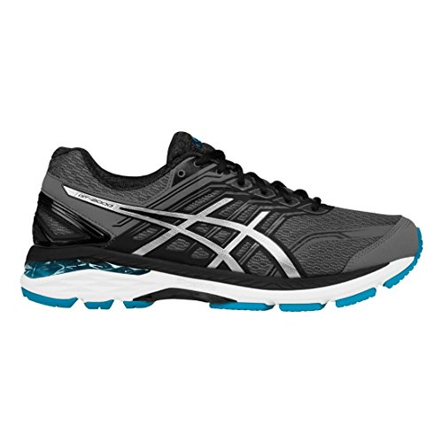 ASICS Men's GT-2000 5 Running Shoe, Carbon/Silver/Island Blue, 9.5 M (Phase Two Accessories)