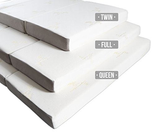 Milliard TWIN 6-Inch Memory Foam Tri-fold Mattress with Ultra Soft Removable Cover with Non-Slip Bottom - Twin