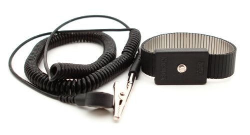 Botron B9478 Premium Adjustable Metal Wrist Strap Set 72''