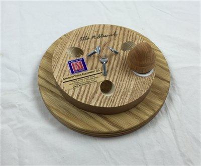 Strauch Yarn Swift / Skeinwinder Floor Model Oak by Strauch Fiber Equipment