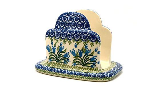 Polish Pottery Napkin Holder - Blue (Polish Pottery Napkin Holder)