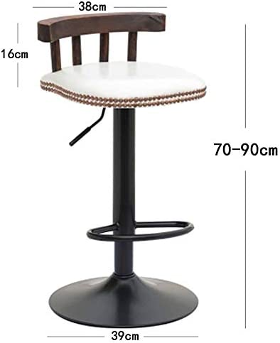 HUOQILIN Solid Wood Bar Stool High Stool Lift Chair Modern Simple High Chair Lift Chair (Color : G) G