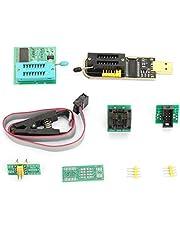 Adapter Socket Converter Module, CH341A USB Programmerare + SOP8 Test Clip + 1.8V Adapter + SOP8 to DIP8 Converter Module