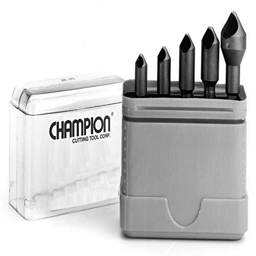(Champion CSK-SET-3 Zero Flute 82-Degree Countersink Set, 4-Piece)
