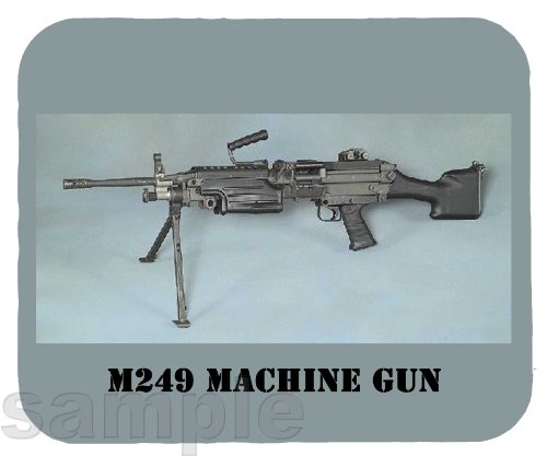 Mouse Pad; M249 Light Machine Gun (Lmg), Previously Designated The M249 Squad Automatic Weapon (Saw), (M249 Saw Squad Automatic Weapon)