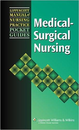 Lippincott manual of nursing practice.