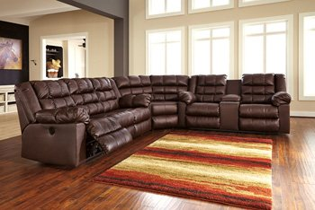 Signature Design by Ashley 8320277 Brolayne DuraBlend Collection Sectional Wedge, Saddle - Sectional Wedge