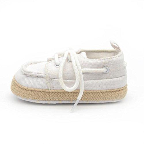 Ouneed® Krabbelschuhe , 0-18 Monate Baby Kind Kind Jungen Mädchen weich Sohle Sneaker Kleinkind Schuhe Weiß