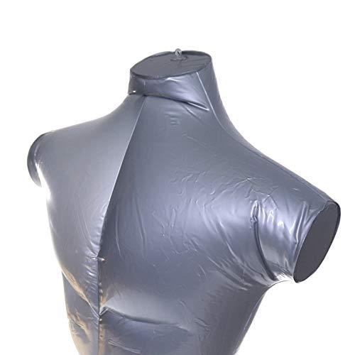 Modelo masculino inflable pl/ástico de la forma del torso del maniqu/í del PVC con 1 gancho de la forma de S
