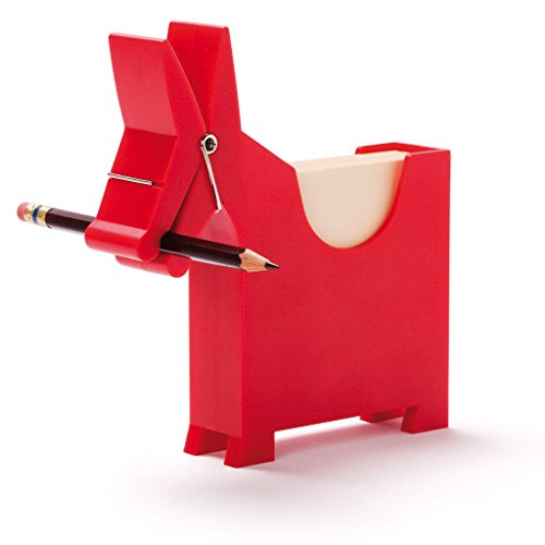 Morris The Donkey - Desktop Note Pad, Note Dispenser and Pen Holder, for Memo, Notes, Block of 140 Blanks, Black/Red / White. for $<!--$14.95-->