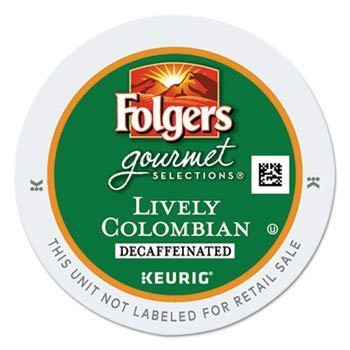 Folgers 100 percent Colombian Decaf K-Cups for Keurig brewers, 24 Count