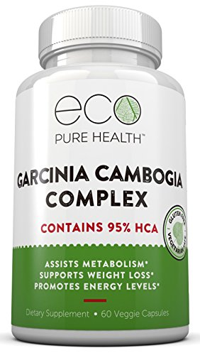Garcinia Cambogia Complex with 95% HCA to Assist Metabolism, Support Weight Loss & Boost Energy Levels by Eco Pure Health